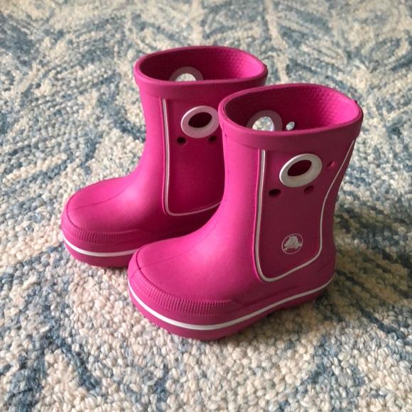 71f7850dd CROCS Other - Crocs Pink Rain Boots for Girls